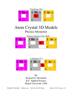 Atom Crystal 3D Models