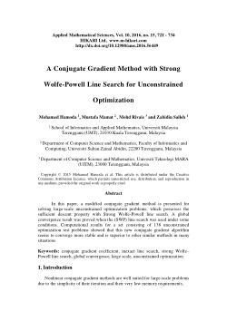 A conjugate gradient method with strong Wolfe-Powell line