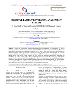 HOSPITAL PATIENT DATABASE MANAGEMENT SYSTEM