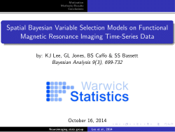 K-J Lee et al (2014): Spatial Bayesian Variable Selection Models on Functional Magnetic Resonance Imaging Time-Series Data