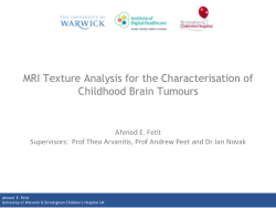 MRI texture analysis for the characterisation of childhood brain tumours