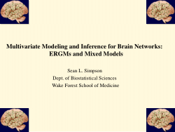 Multivariate Modeling and Inference for Brain Networks: ERGMs and Mixed Models