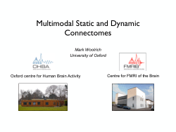 Multimodal Static and Dynamic Connectomes