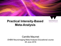 Practical Intensity-Based Meta-Analysis