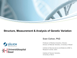 Structure, Measurement & Analysis of Genetic Variation