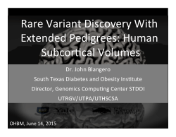 Rare variant discovery using family based studies