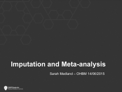 Imputation & Meta-Analysis