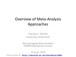 Overview of Meta-Analysis Approaches