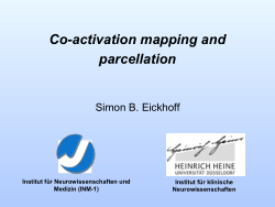 Co-activation mapping and parcellation