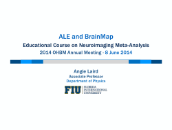ALE and BrainMap