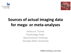 Sources of actual imaging data for mega- or meta-analyses