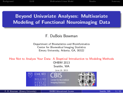 Beyond Univariate Analyses: Multivariate Modeling of Functional Neuroimaging Data