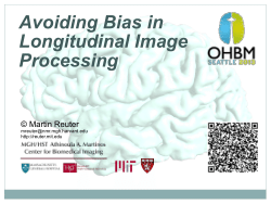 Avoiding Bias in Longitudinal Image Processing