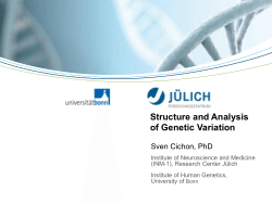 Structure and Analysis of Genetic Variation