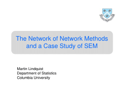 The Network of Network Methods and a Case Study of SEM