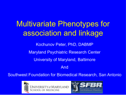 Multivariate Phenotypes for association and linkage