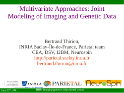 Multivariate Approaches: Joint Modeling of Imaging and Genetic Data