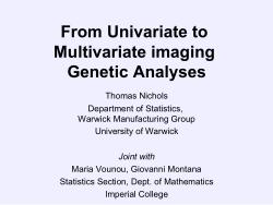 From Univariate to Multivariate imaging Genetic Analyses