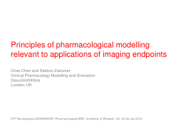 Principles of pharmacological modelling relevant to applications of imaging endpoints
