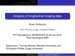 Analysis of longitudinal imaging data