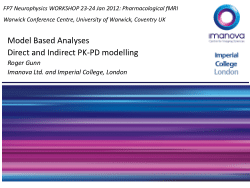Model Based Analyses Direct and Indirect PK-PD modelling