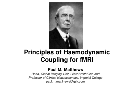 Principles of Haemodynamic Coupling for fMRI