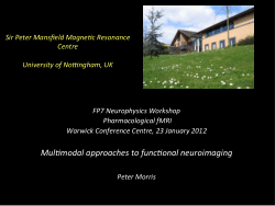 Multimodal approaches to functional neuroimaging