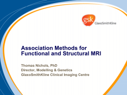 Association Methods for Functional and Structural MRI