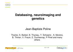 Databases for Managing Large Cohort Imaging Genetics Studies