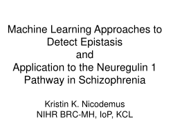 Epistasis: Machine Learning Approaches