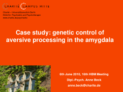 Case Study: Genetic Control of Aversive Processing in the Amygdala