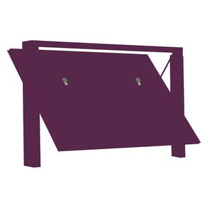 PORTA BASCULANTE IN OKOUME' CON Montanti Rivestiti + nr.3 Coprifilisaldati rivestiti +  Portina Vista Esterna  Centrale Tirare SX + Motorizzazione - NO SERRATURE