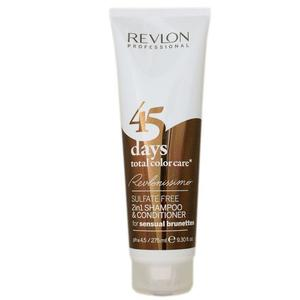 Revlon 45 Days Total Color Care 2 In 1 Shampoo per Capelli Colorati 275ml + Omaggio