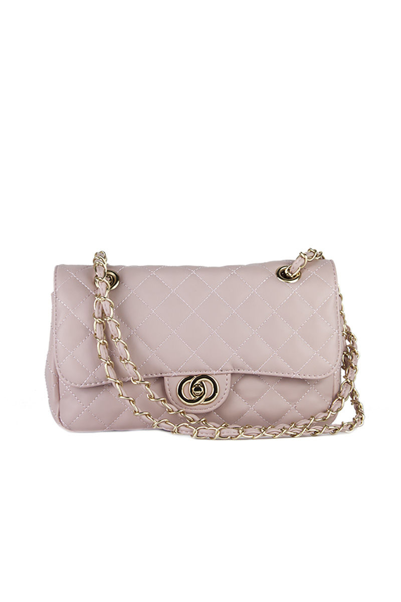 LILLY Pink Quilted Chain Bag : pink quilted bag - Adamdwight.com