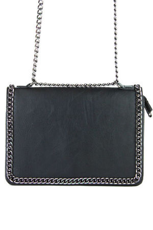 ROSIE Black Chain Shoulder Bag