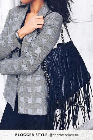AVA Black Fringe Bag