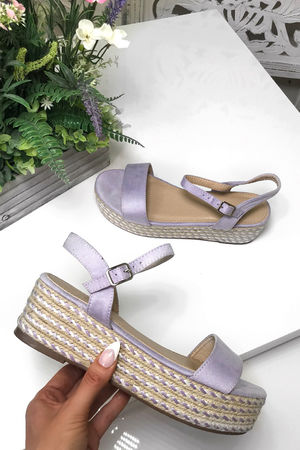 AMELIA Purple Espadrille Flatforms