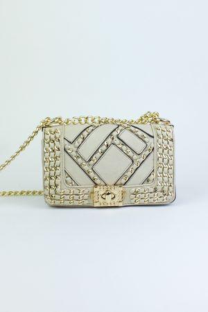 MILA Beige Chain Mini Bag