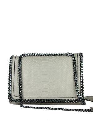 APRIL Beige Faux Leather Crocodile Chain Bag