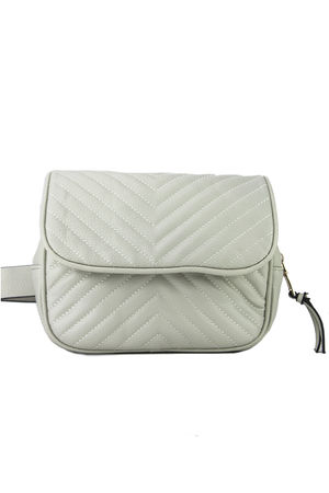 JESSICA Beige Quilted Belt Bag