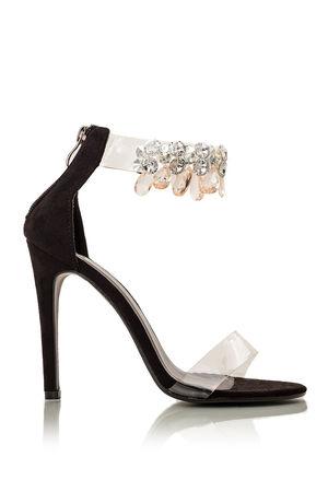 BELLE Jewel Perspex Heels