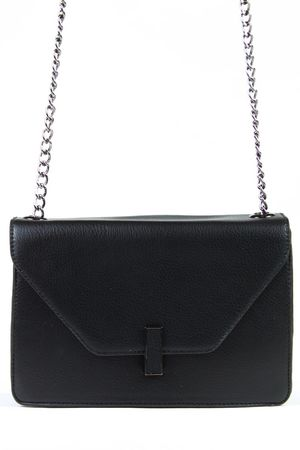 CONNIE Black Chain Shoulder Bag