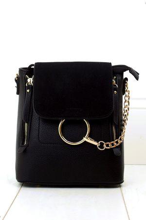 LEXI Black Chain Backpack