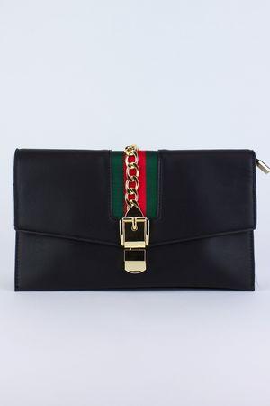 CARA Black Clutch Bag
