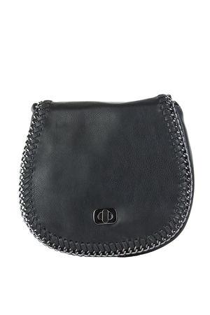 CARNEY Black Chain Detail Shoulder Bag