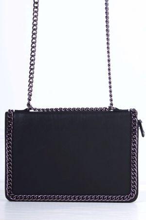 ROSIE Black Chain Shoulder Bag