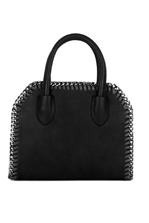 CALISTA Black Chain Tote Bag
