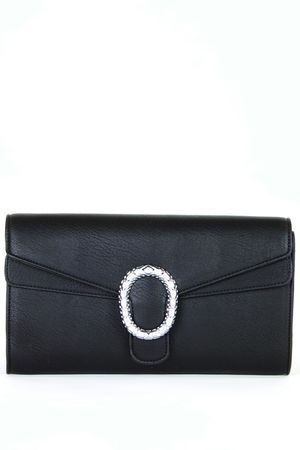 SALLY Black Clutch Bag
