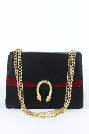 NATASHA Black Emblem Shoulder Bag