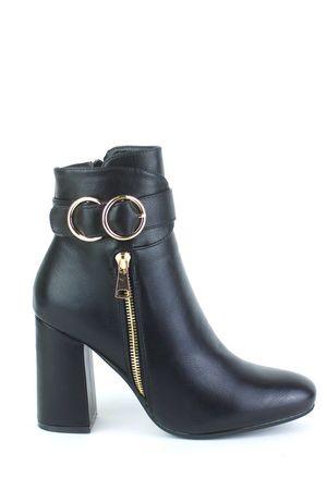 NARELLE Black Emblem Ankle  Boots